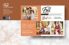 Fall / Autumn Mini Session Template | Multipurpose Photography Marketing board | Photoshop & MS Word Template | Instant Download Photography Mini Sessions, Book Photography, Photo Folder, Fall Mini Sessions, Print Release, Photography Marketing, Autumn Photography, Digital Image, The Help