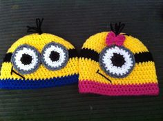 Crochet Minion Hat by OopsyDaisyBB on Etsy, $20.00