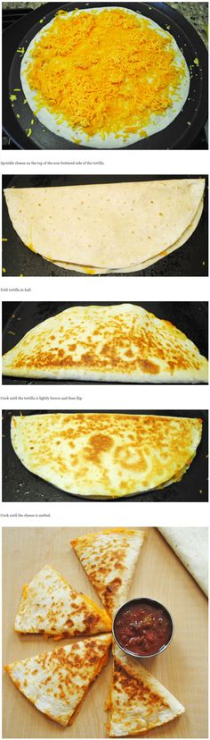 How to make simple and quick Cheese Quesadillas. Please see a full recipe at recipetreasure.co....