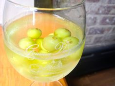 Frozen grapes as ice cubes in wine