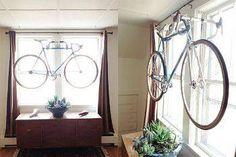 DIY Wall Bike hanger