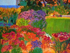 Mary Deutschman, Garden by the Lake, 2016, The Bonfoey Gallery