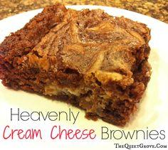 Heaven;y Cream Cheese Brownies