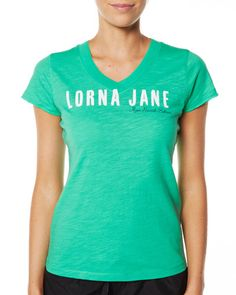 SURFSTITCH - WOMENS - ACTIVEWEAR - TOPS - LORNA JANE MANDY T SHIRT - EMERALD