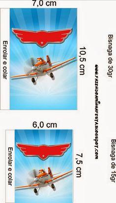Aviones de Disney: Etiquetas para Candy Bar, para Imprimir Gratis.