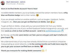 Verifizierte MeWe Accounts | Jeffs Blog Welt