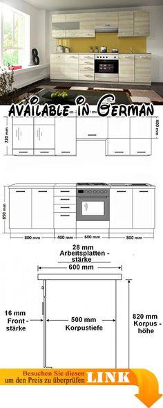 B078V3G64P  Küchen-Regal-Boden-Mikrowellen-Speicher-Regal 3 - küchenblock 260 cm