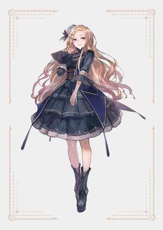 Like Drawing Image Fantasy of forms the Face Book Manga Girl, Anime Girl Dress, Anime Art Girl, Anime Girls, Pretty Anime Girl, Beautiful Anime Girl, Girls Characters, Female Characters, Female Character Design