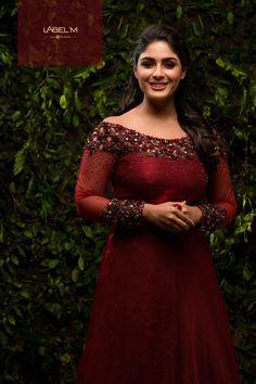 Actress Samyuktha Menon Cute Stills Indian Wedding Gowns, Indian Gowns Dresses, Indian Bridal Fashion, Designer Party Wear Dresses, Kurti Designs Party Wear, Designer Gowns, Wedding Dresses For Girls, Bridal Dresses, Gown Party Wear