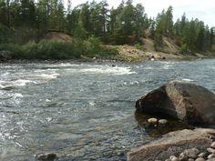 Kaunis Kaamasjoki kivenheiton päässä Jussakan työhuoneelta. #Kaamanen #Jussakka