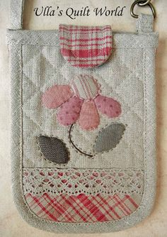 Ulla's Quilt World: Quilt bag - Japanese patchwork love the flower