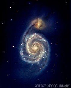 Winning astronomy photo of 2012 - The Whirlpool Galaxy. Credit: Michael Pugh.