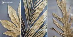 DIY goldene Blätter einrahmen Diy Wall Art, Diy Art, Wall Art Decor, Dried Flower Arrangements, Dried Flowers, Old Picture Frames, Leaf Crafts, Golden Leaves, Small Leaf
