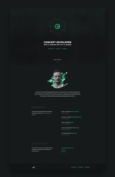 My new personal landing page.