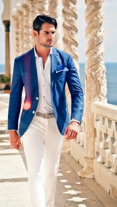 Can never go wrong with a blue blazer. It's versatility makes the possibilities endless.