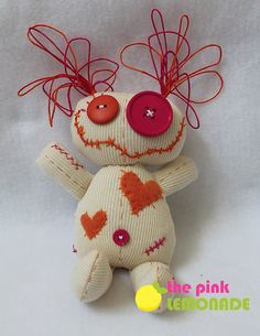 Anastasia voodoo doll by thepinklemonade on Etsy Zombie Dolls, Voodoo Dolls, Sewing Toys, Sewing Crafts, Sewing Projects, Ugly Dolls, Creepy Dolls, Fabric Toys, Fabric Crafts