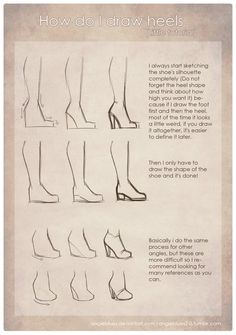 angieblues2-0: How do I draw heels by AngieBlues A lot of...