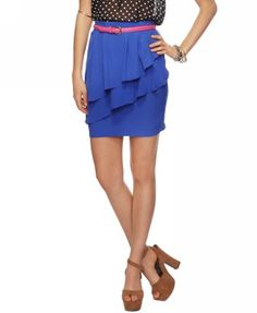 Adorable! Tiery Eyed - The different tiers and the royal blue color make this skirt too cute to pass up. Wear it with a skinny belt to mix it up! Forever 21, $17.80