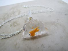 Goldfish In A Bag Necklace.