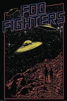 Znalezione obrazy dla zapytania foo fighters poster