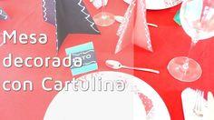 3 ideas fáciles para decorar la mesa de Navidad ¡con cartulinas!