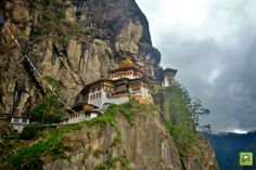"""""""There is a kind of magicness about going far away and then coming back all changed."""" The taktsun monastery also known as the tiger nest in paro, Bhutan ."""