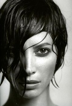 Christy Turlington  • black and white photography