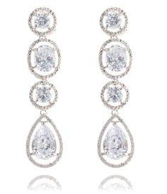 88aab657be307 Baron Pierced Earrings, Blue, Rhodium Plating | Jewelry | Earrings ...