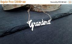 FALL SALE Sterling Silver Grandma Necklace | Nana Necklace | Grandmother Jewelry | Grandchild Jewelry | Grandkids | Sterling Silver Delicate