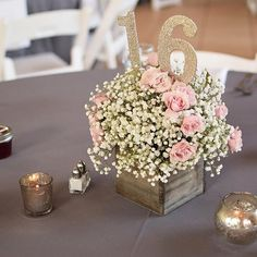 A little rustic charm Sweet 16 Party Decorations, Sweet 16 Party Favors, Sweet 16 Centerpieces, Sweet 16 Themes, Quince Decorations, Wedding Centerpieces, Quince Centerpieces, Country Sweet 16, Sweet 16 Candles