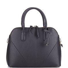 Cczimo Women's Leather Shell Top Handle Handbag Crossbody Shoulder Bag Messenger Bag None