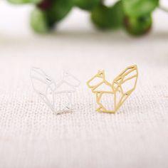 18k gold earings korean jewelry earrings  post  cute animal animal earrings  squirrel stud earrings ED023