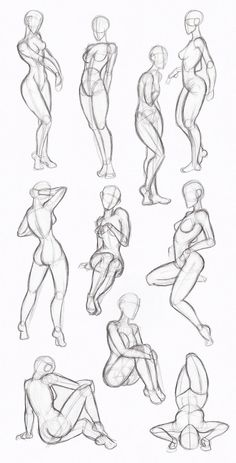 Copy's and Studies: Kate-FoX fem body's by WonderingMind23 on DeviantArt