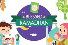 BLESSED RAMADHAN VECTOR SET This cheerful and colorful set was inspired by Ramadhan, the ninth month of the Islamic calendar. Poster Ramadhan, Eid Mubarak, Tropical Leaves, Preschool Crafts, Graphic Illustration, Infographic, How To Draw Hands, Wedding Invitations, Blessed