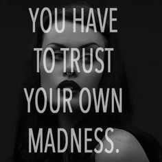""""""" You have to trust your own madness """" Clive Barker quotes"""