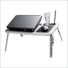 HIGH QUALITY FOLDABLE LAPTOP: Cooling Base Adjustable Angle