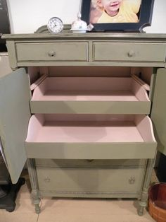 colors Chateau Grey and Antoinette Chalk Paint® by Annie Sloan