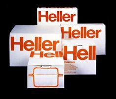 Simpel, striking kleur + wit, GROOT  Heller — Massimo Vignelli