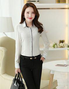 Sơ mi công sở đính hạt màu trắng - A6449 - Chất Liệu: kate - Màu sắc: như hình - Kích thước: freesize Executive Fashion, Somi, Work Attire, Fashion Top, Work Clothes, Personal Style, Woman Shirt, Women's, White Blouses