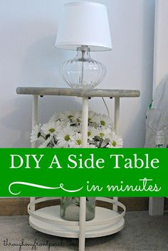 DIY A Side Table In Minutes Tutorial