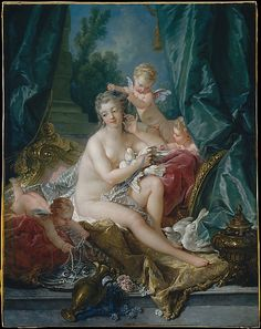 The Toilette of Venus: Madame de Pompadour, mistress of Louis XV, admired Boucher and was his patroness from 1747 until her death in 1764. This famous work was commissioned for the dressing room at Bellevue, her château near Paris.