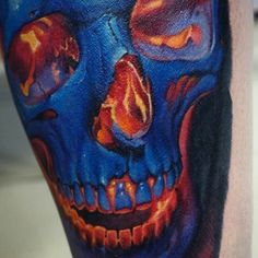 Fragment skull ✌  Done with @worldfamousink @inkjecta @odin_tattooshop @tattoo_studio_suvorov @suvorov_life #likesuvorov #worldfamoustattooink #inkjectapro #tattoomaster #colortattoo #realism #ink #tattooartist #tattooartwork #skull #екбтату #татуекб #татуировка