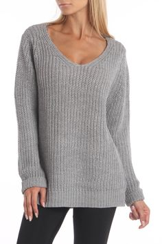 la class couture Tanya Sweater In Gray Melange - Beyond the Rack
