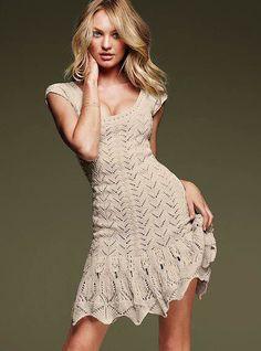 Vestido de tricô romântico