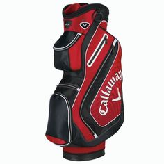 Callaway Chev Cart Bag Full Length Club Dividers E-Trolley Base System Integrates Comfort Tech Single Strap Integrated Easy Lift Taylormade, Golf Bags, Trekking, Cart, Sports, Adventure, Red, Covered Wagon, Hs Sports