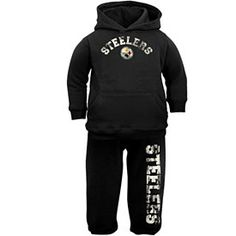 138c8de20 Pittsburgh Steelers Infant Hooded Sweatshirt and Pants Set