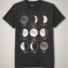 Moon Phases--want this shirt but its sold out...