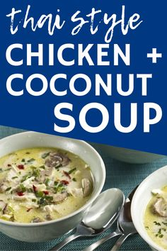 This thai chicken soup is sure to be a favorite winter recipe. Made with coconut milk and chicken, this flavorful healthy soup is perfect to add to your meal plan rotation. Enjoy this chicken and coconut soup today! Best Mushroom Soup, Mushroom Side Dishes, Best Mushroom Recipe, Mushroom Soup Recipes, Chicken Coconut Soup, Thai Chicken, Chicken Soup, Baby Bella Mushroom Recipes, Mushroom Appetizers
