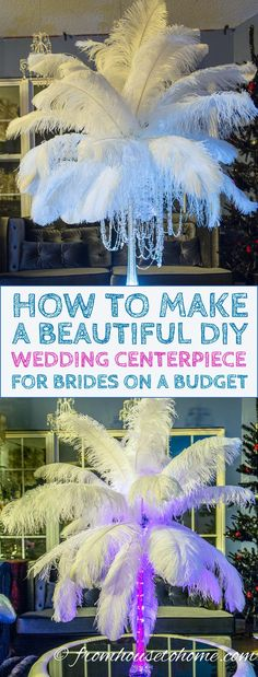 This DIY ostrich feather centerpiece tutorial is the BEST!! The step-by-step instructions are so easy to follow and making them myself will save a lot of money for my birthday party! Definitely pinning!!