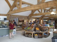 Internal view of the new Farm shop.